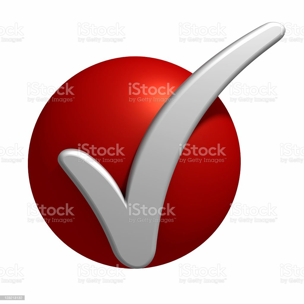 CheckMark on the red point royalty-free stock photo