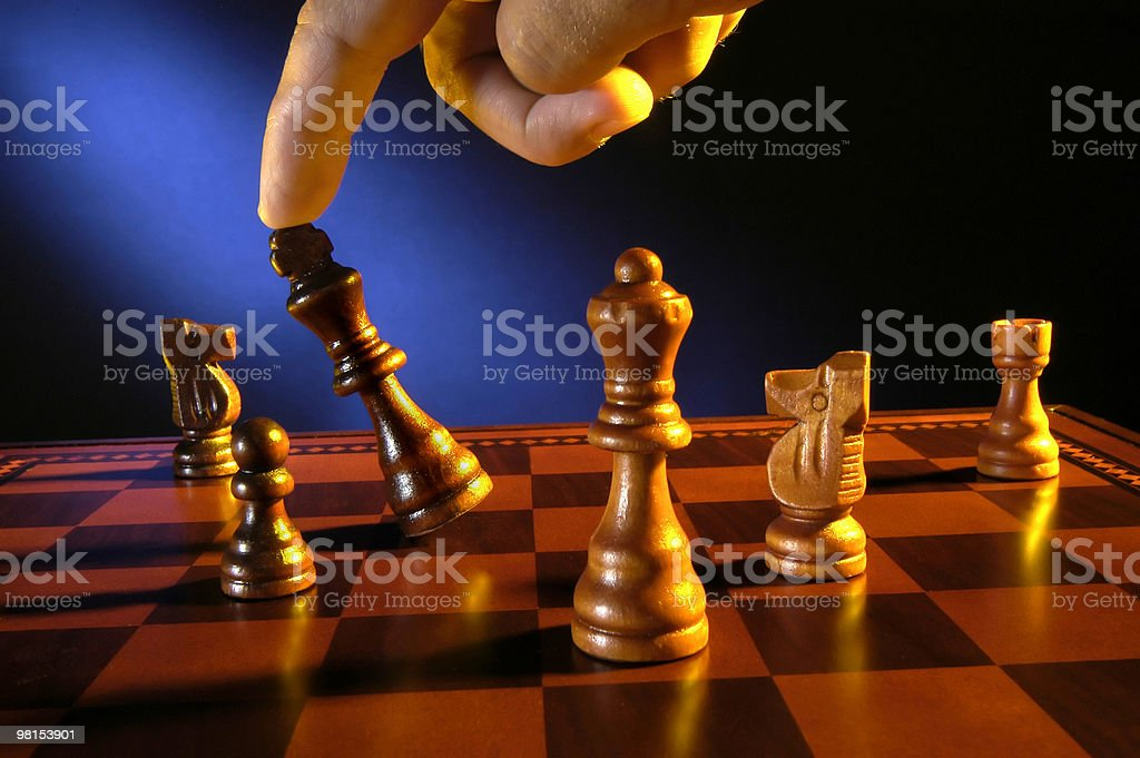 Checkmate -  Chess Game royalty-free stock photo