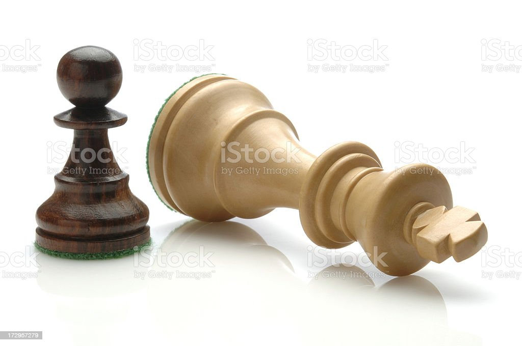 Checkmate Pawn Checkmates King. Board Game Stock Photo