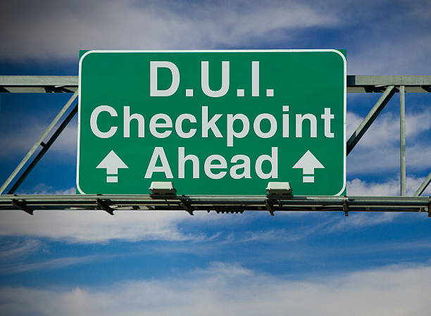 D.U.I. Checkpoint Ahead A road sign concept that says