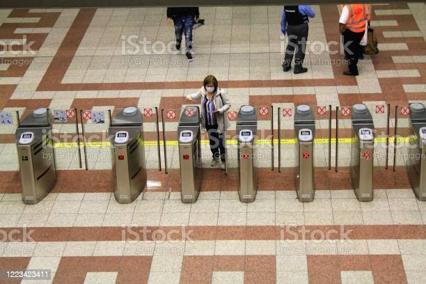 Checkpoint At Syntagma Metro Station Stock Photo - Download Image Now