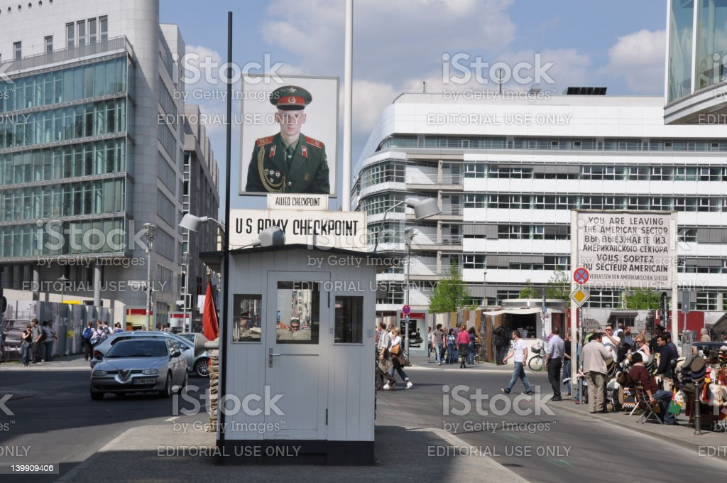 Checkpoint Charlie - Berlin royalty-free stock photo