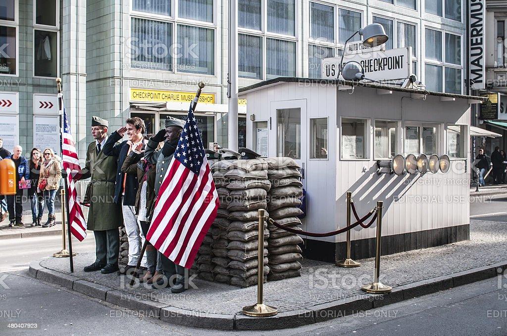 Checkpoint Charlie, Berlin stock photo
