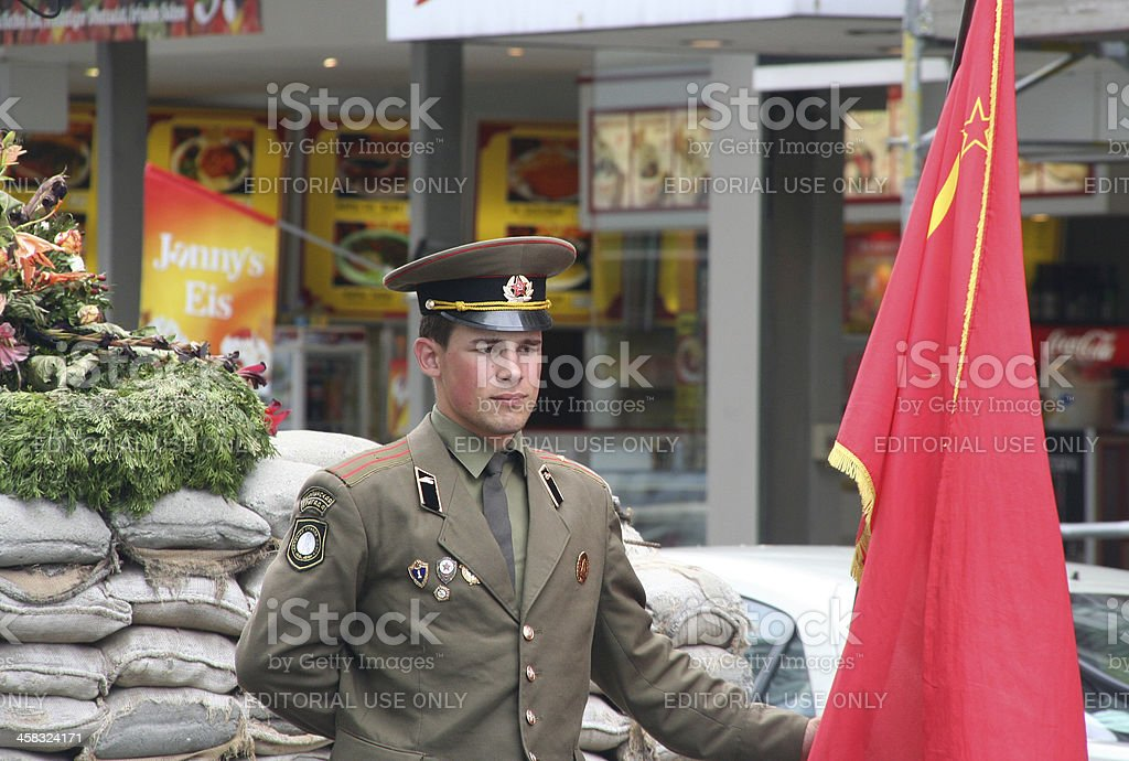 Checkpoint Charlie royalty-free stock photo