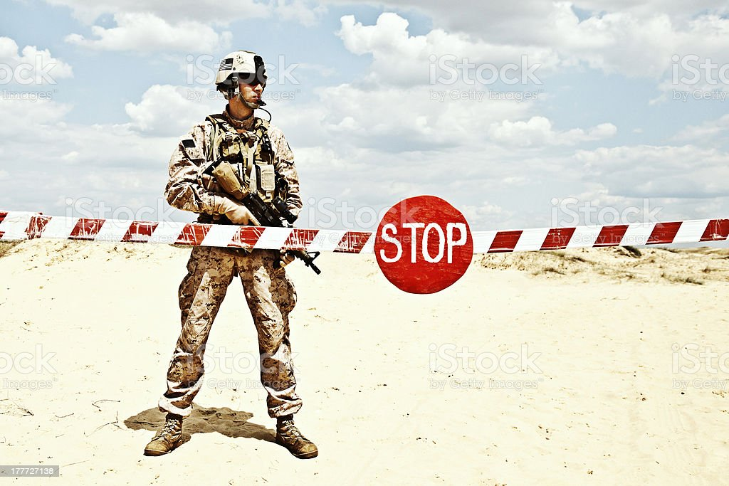 checkpoint stock photo
