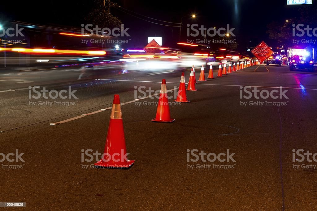 DUI Checkpoint stock photo