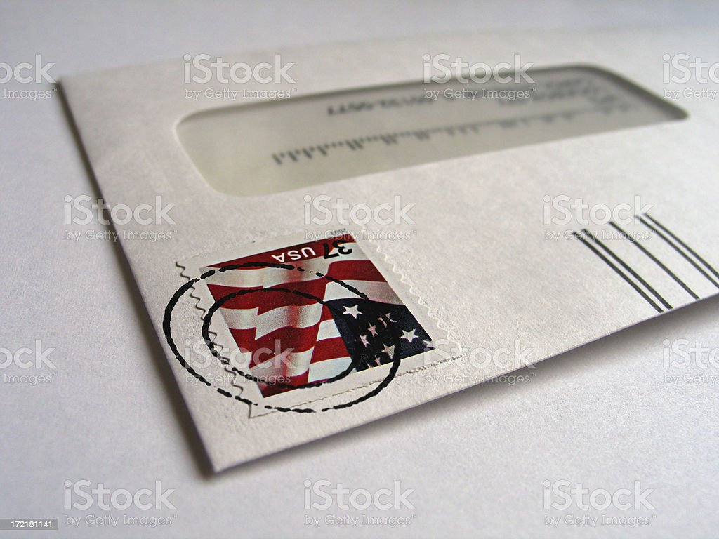 Check's In The Mail royalty-free stock photo