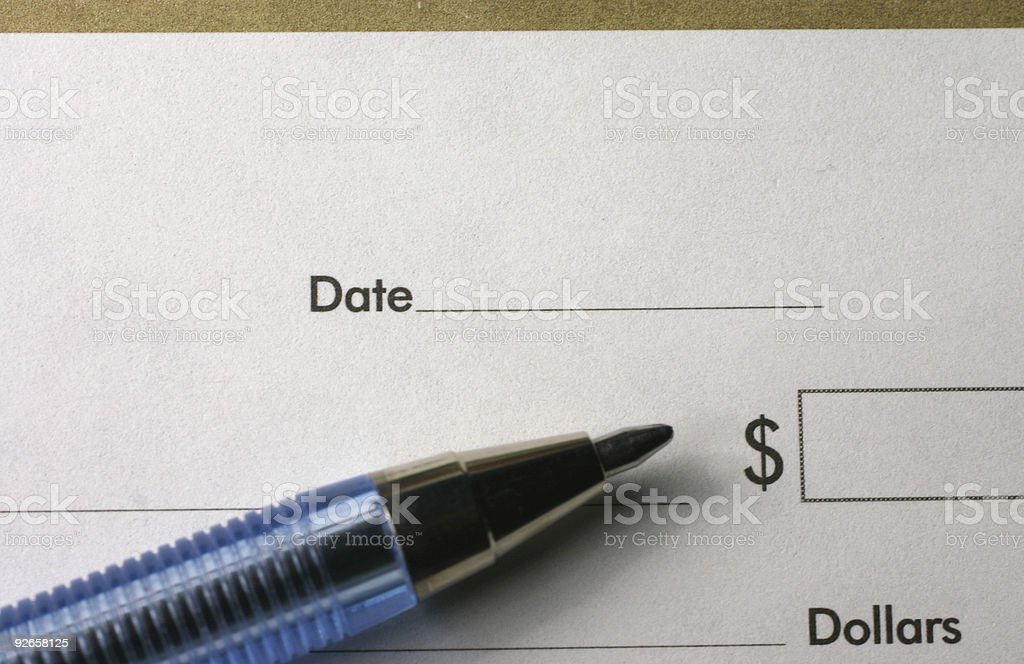 Checks royalty-free stock photo
