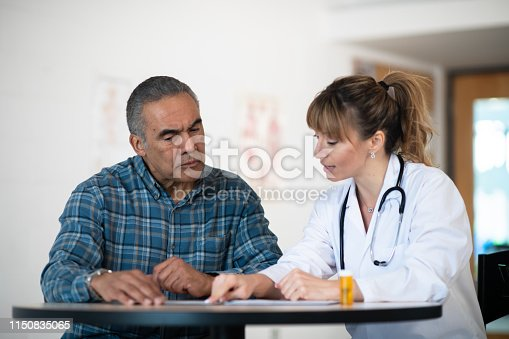 istock Check-up with a senior patient 1150835065