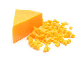 istock cheddar cheese isolated on white background 672526908