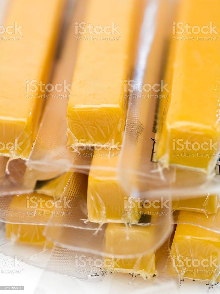 Cheddar Cheese Sticks stock photo