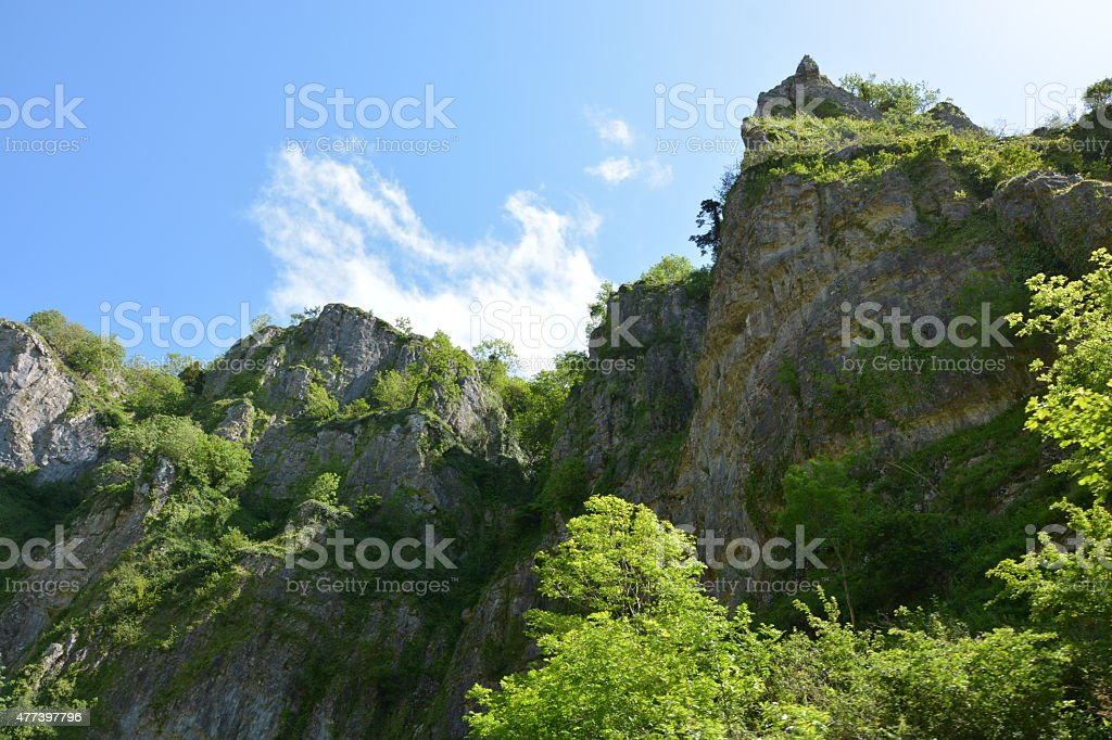 Cheddar Gorge cliffs stock photo