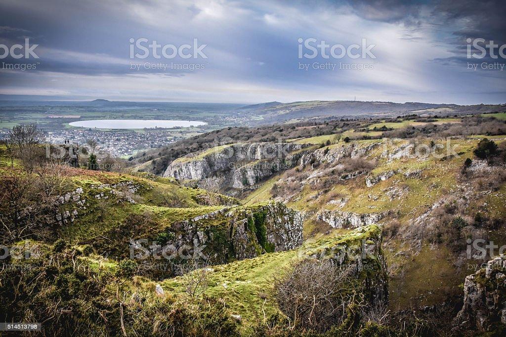 Cheddar Gorge stock photo