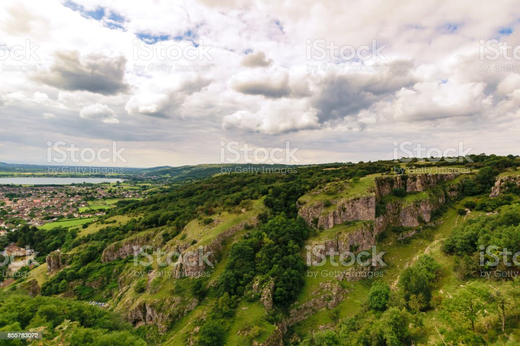 cheddar gorges stock photo
