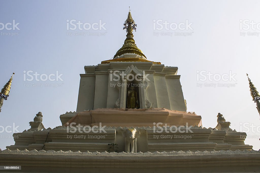 Chedi In Wat Cang Kump , Wiang Kum Kam royalty-free stock photo