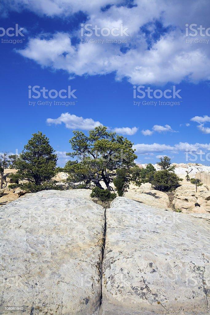Cheecks Rock in El Morro National Monument stock photo