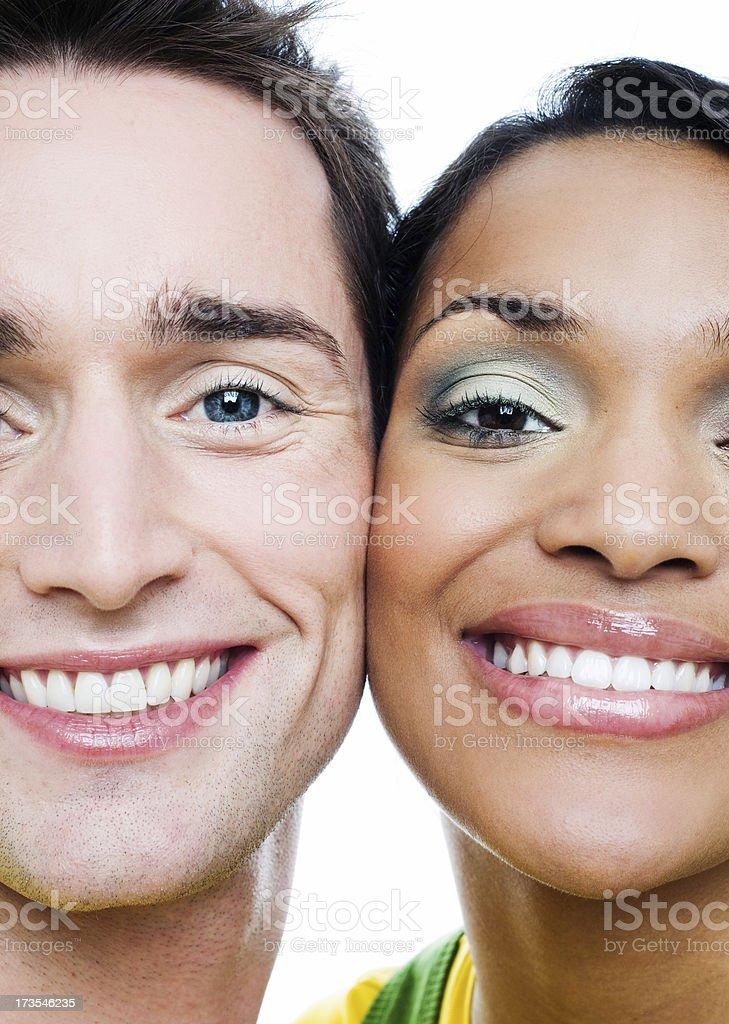 Cheeks together stock photo