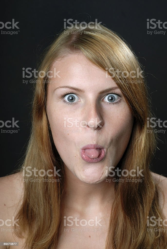 Cheeky girl royalty-free stock photo
