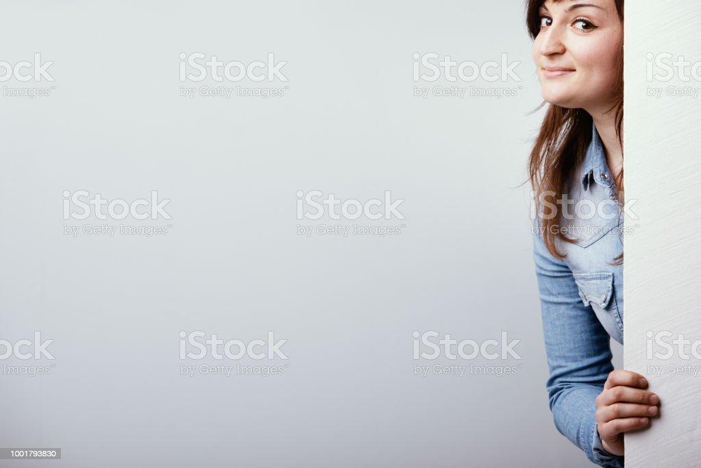Banque d'images — sexy robe jeune femme en tant que fille de l'école coquine