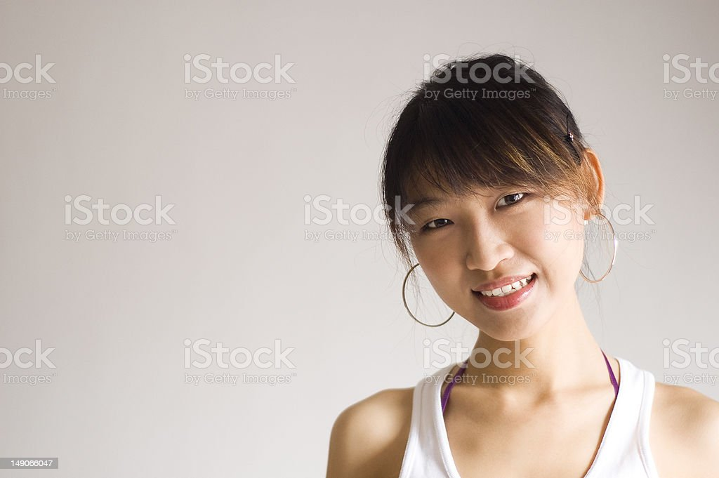 Cheerful Asian girl royalty-free stock photo