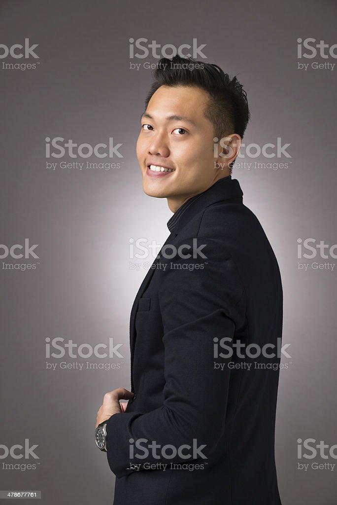 Cheerful Asian Man royalty-free stock photo