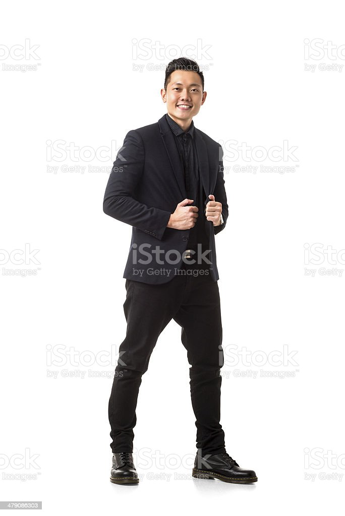 Cheerful Asian Man royalty-free stock photo
