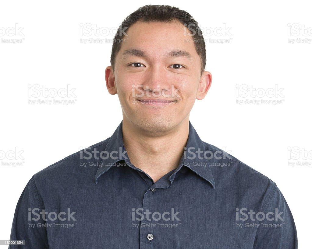 Cheerful Asian Man Portrait royalty-free stock photo