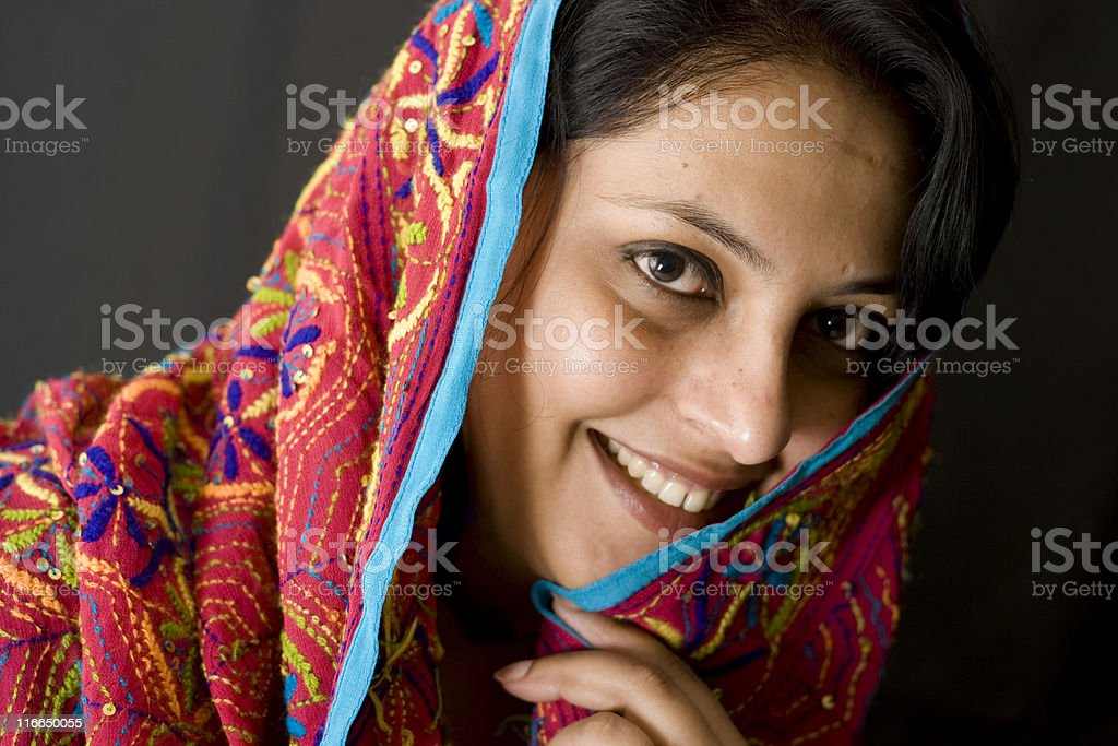 Cheerful Indian Woman of Punjabi Origin