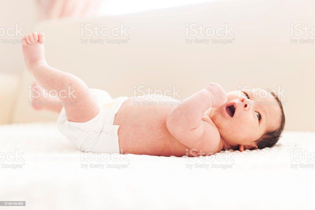 Cheerful Baby boy stock photo