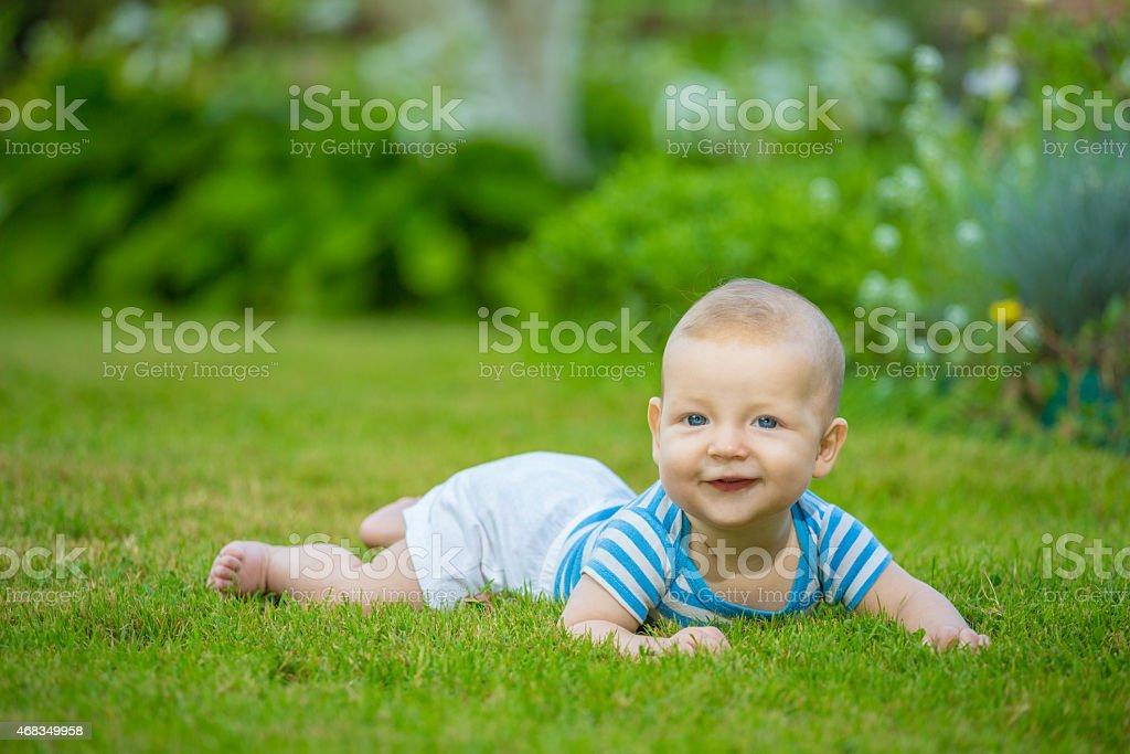 Cheerful baby royalty-free stock photo