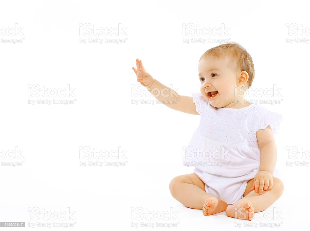 Cheerful baby stock photo