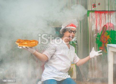 istock Cheerful baker 166189327