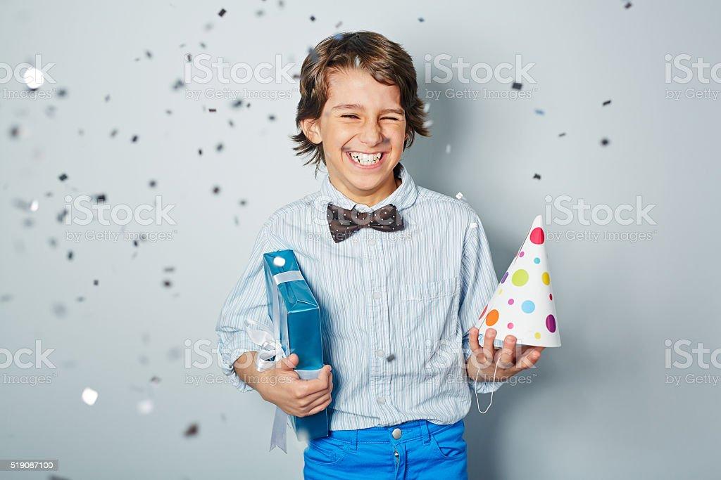 Cheerful birthday stock photo