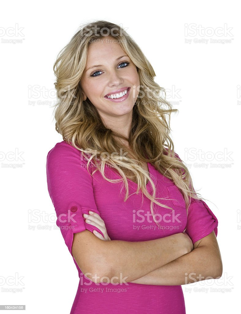 Cheerful blond girl royalty-free stock photo