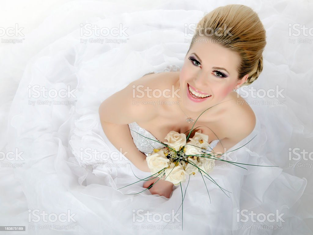 cheerful bride royalty-free stock photo
