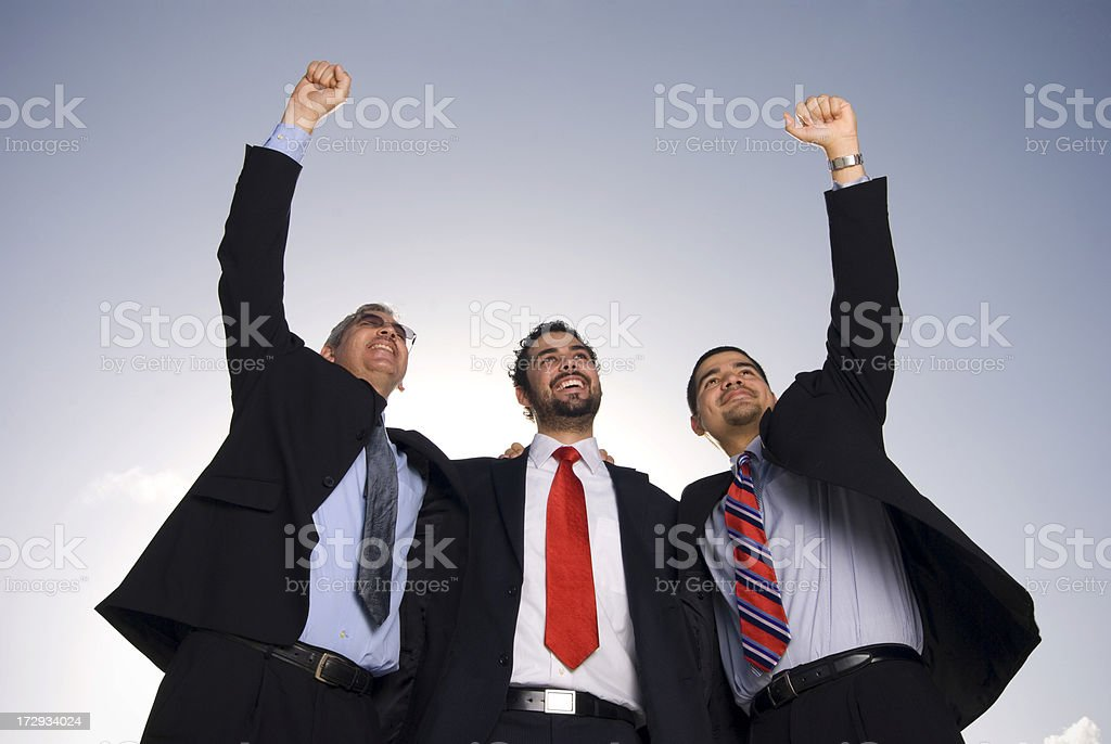 Cheerful business group royalty-free stock photo