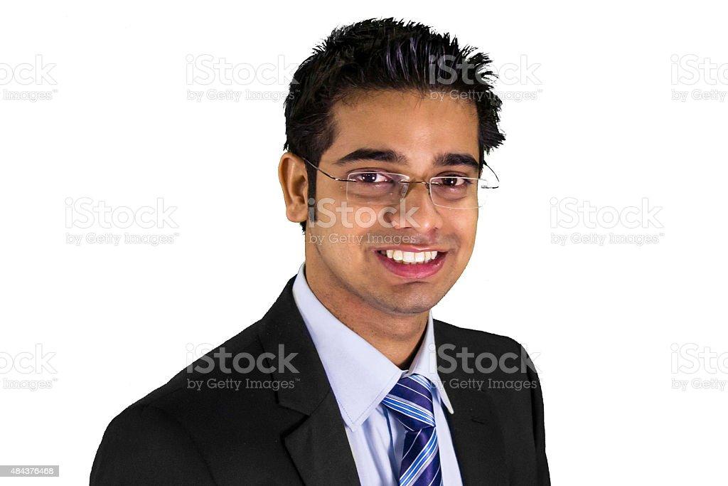 Cheerful business man stock photo