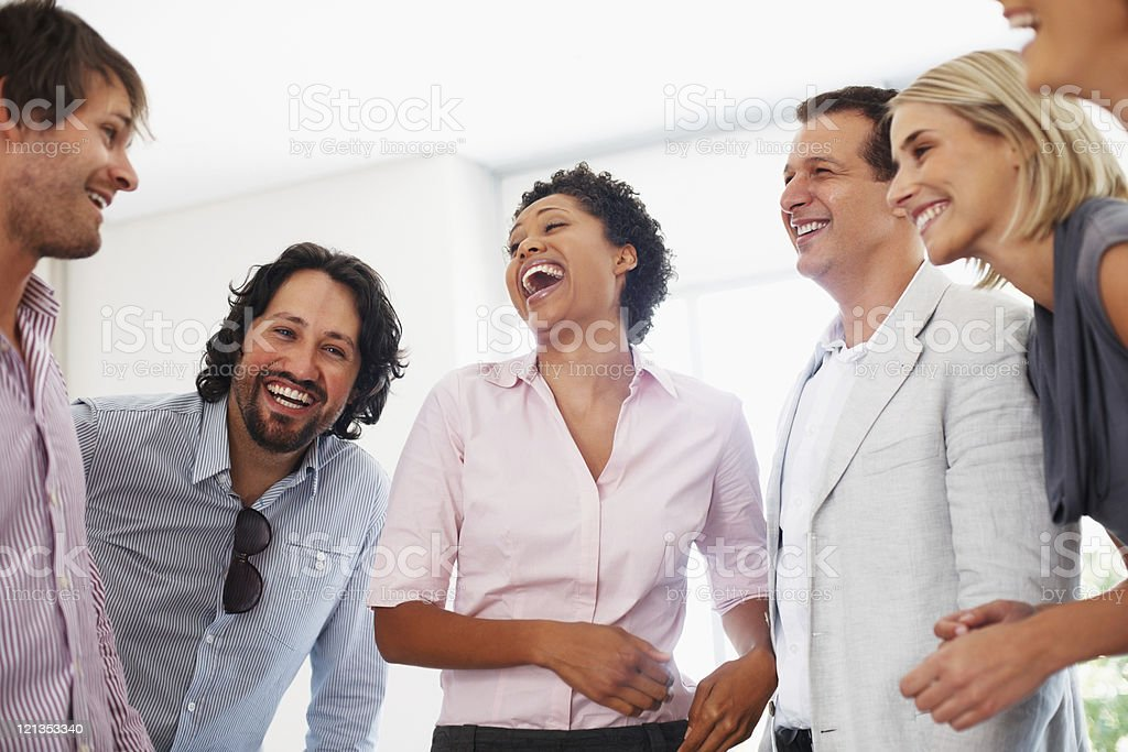 Cheerful business team royalty-free stock photo