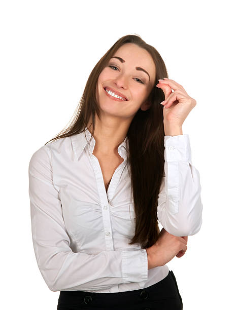 cheerful business woman happy smiling businesswoman snapping fingers snapping stock pictures, royalty-free photos & images