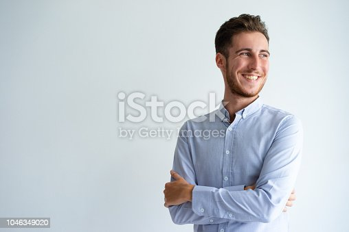 istock Cheerful businessman enjoying success 1046349020