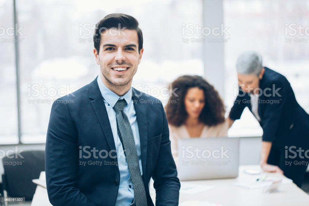 Cheerful businessman in the office - Royalty-free 30-39 Years Stock Photo