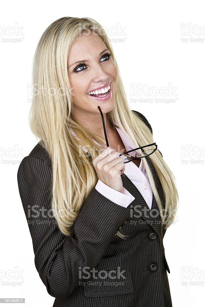Cheerful businesswoman royalty-free stock photo