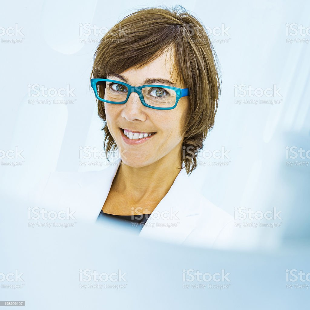 Cheerful businesswoman royalty-free stock photo