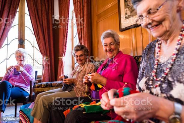 Cheerful candid portrait of senior women knitting picture id985808726?b=1&k=6&m=985808726&s=612x612&h=yzbb6hfks6 wc7i1z9lsyapquno  mi0ll9jvg o0le=