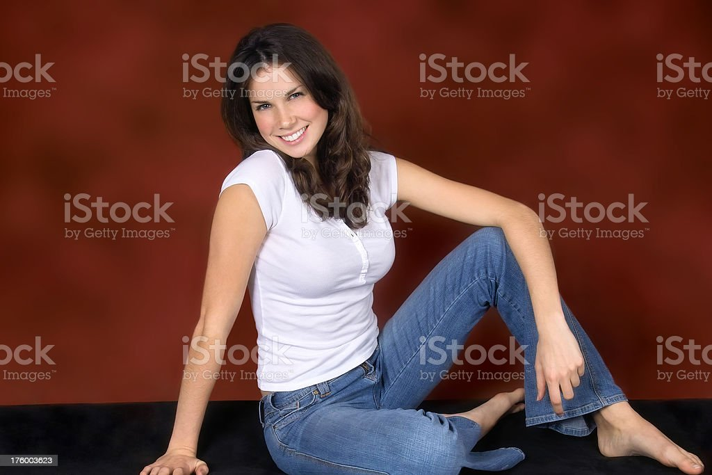 Cheerful Casual Young Woman royalty-free stock photo