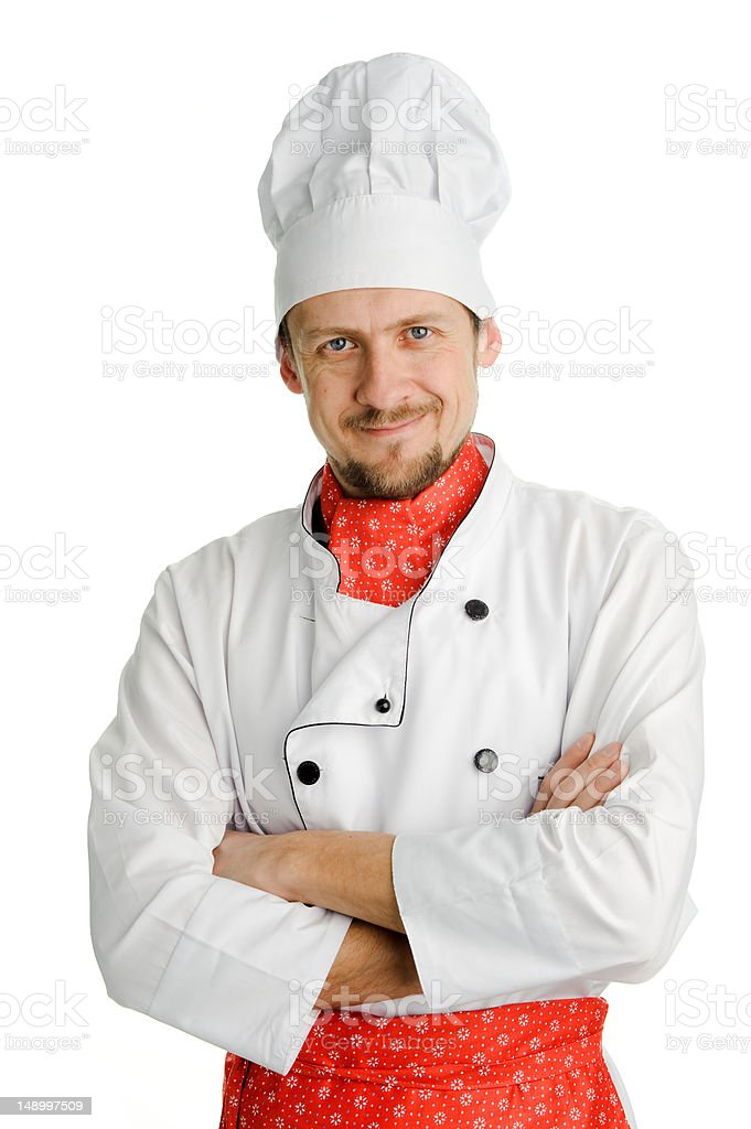 Cheerful chef royalty-free stock photo