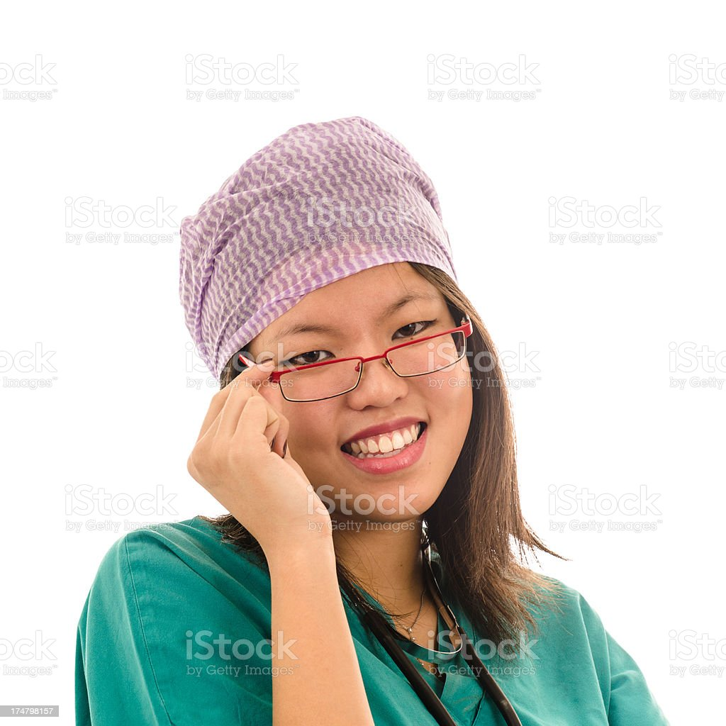 Cheerful chinese doctor royalty-free stock photo