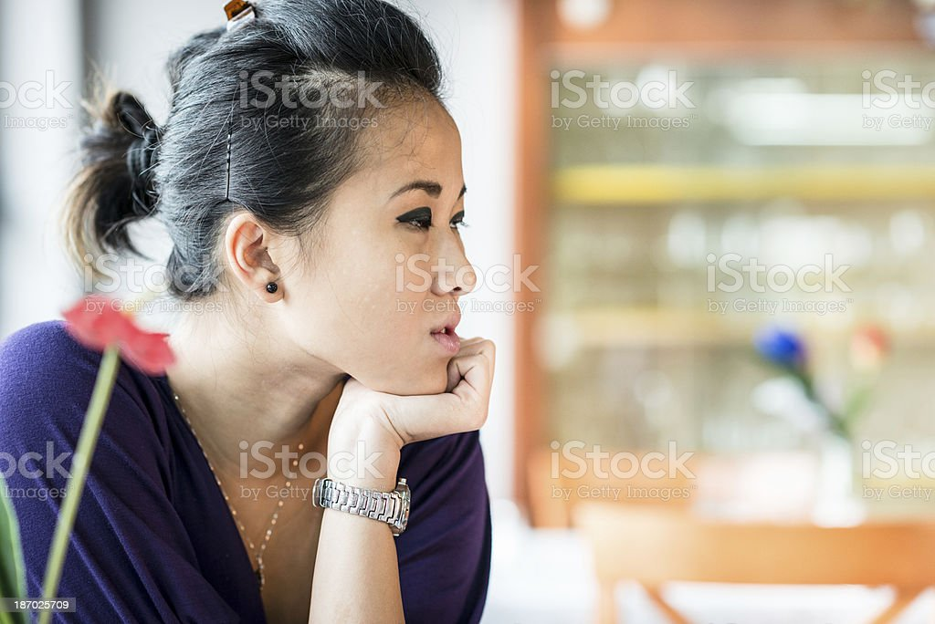 cheerful chinese girl portrait royalty-free stock photo