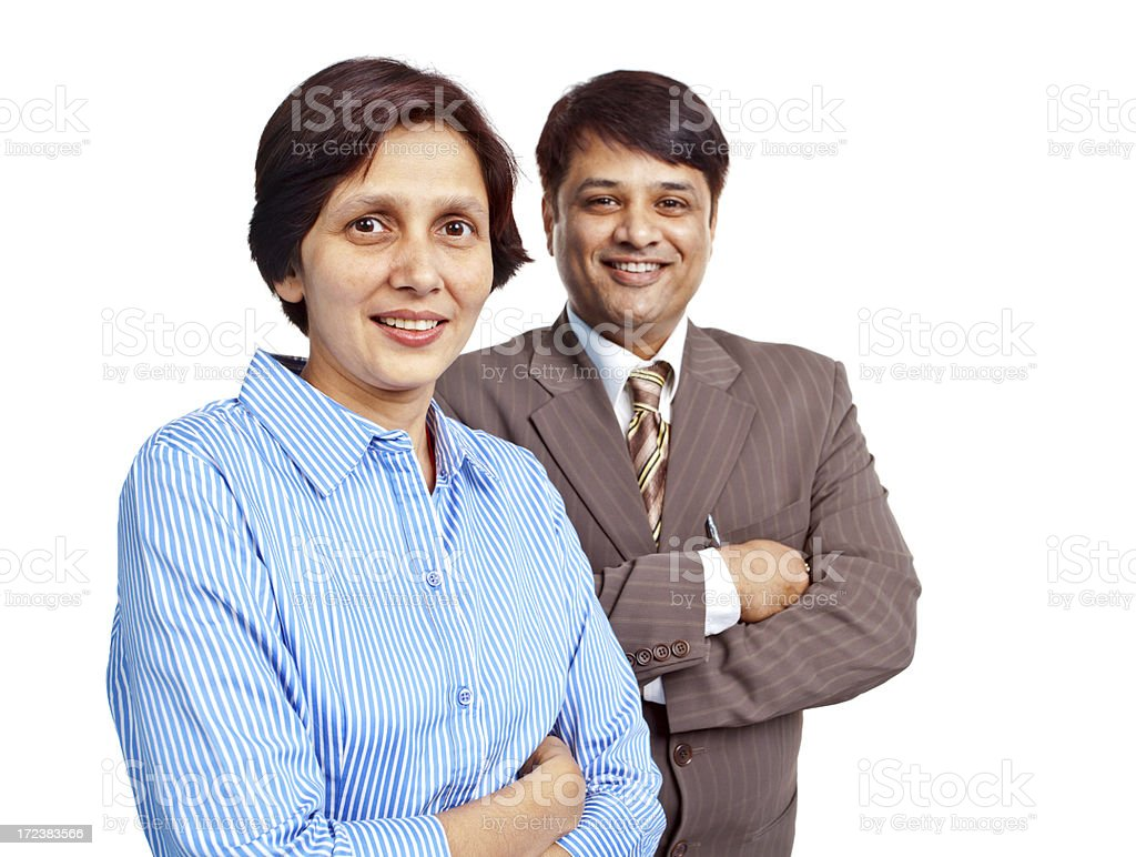 Cheerful Confident Indian Corporate Business People royalty-free stock photo