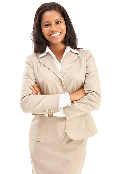 Cheerful Confident Young African American Businesswoman stock photo